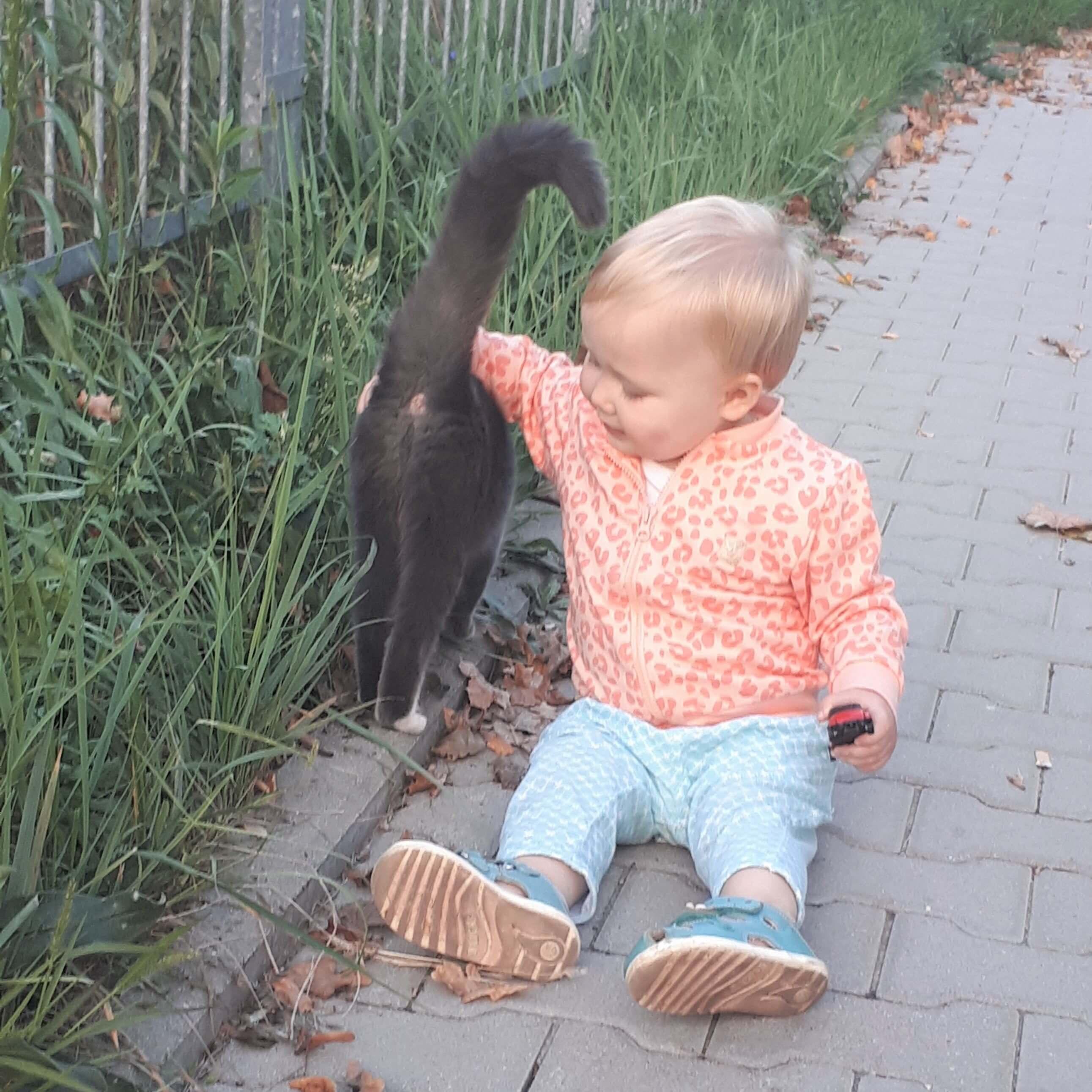 dziecko z kotkiem