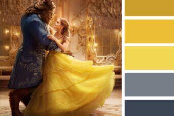 Cytrynowy żółty i zimna szarość w stylizacjach weselnych. Kolory roku 2021 Pantone.
